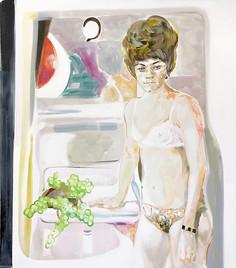 Frau mit Bienenkorbfrisur