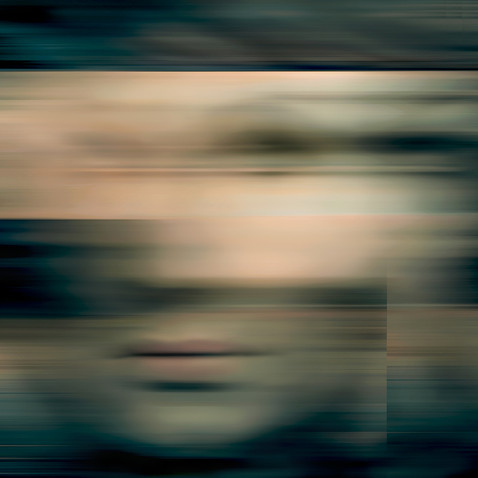 Multiples Face II (Became abstract and turn into profile)