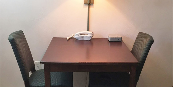 Dining Table with phone