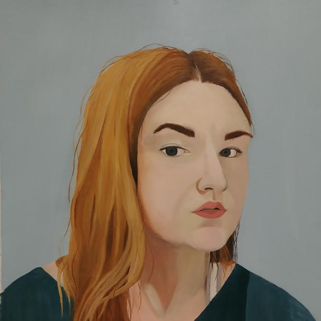 Three quarter self portrait
