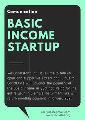 COVID19 and BASIC INCOME STARTUP
