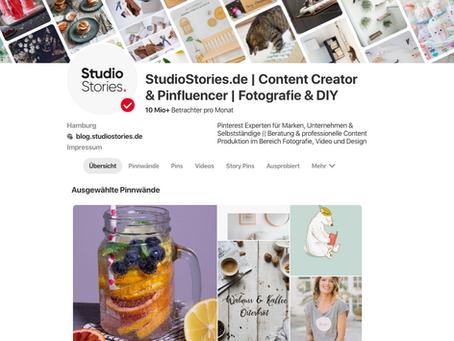 StudioStories. erklärt dir wie die neuen Pinterest Story Pins funktionieren!