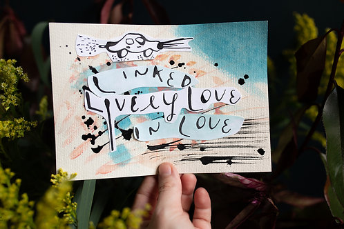linked in lively love | original collage by kristin abigail