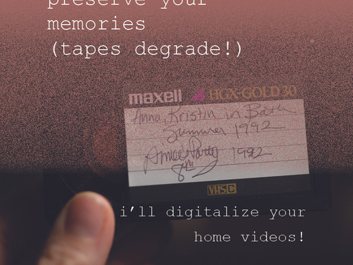 Preserve Your Sweetest Memories | Hire Me to Digitalize Your Family Home Videos! (Tape degrades!)