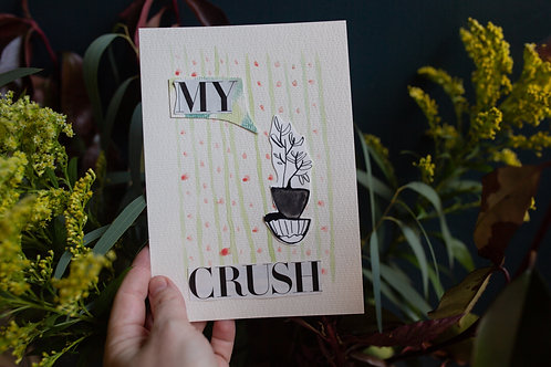 my crush | original collage by kristin abigail