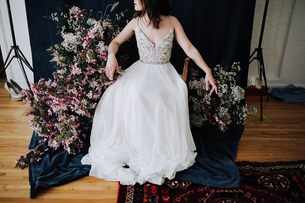 modern moody bride