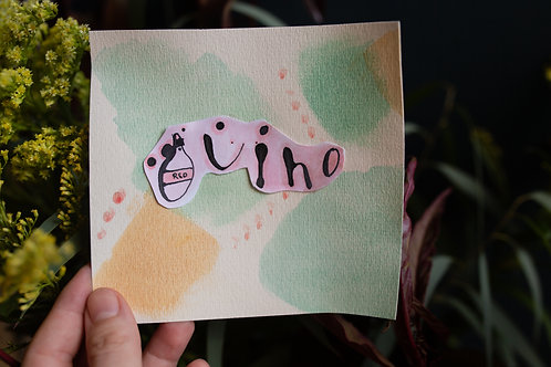 red vino | original collage by kristin abigail