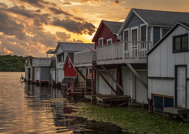 Sunset at Canandaigua Boathouses