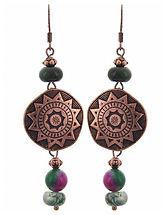 Metal brass bead earrings