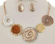 Copper silver necklace