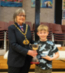 1st Place and School Trophy Oscar Baker