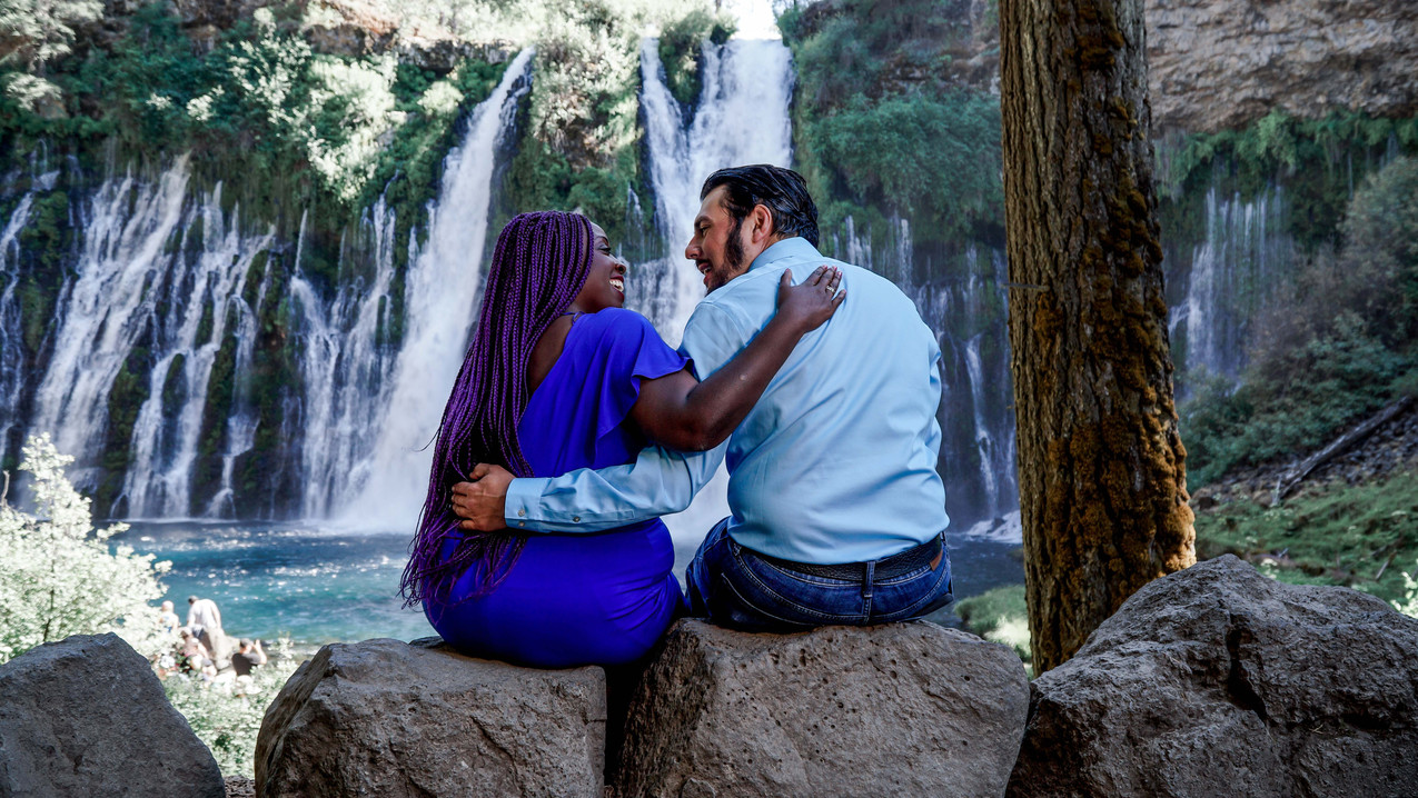 Sharon & Frank Sitting By The Falls-27.j