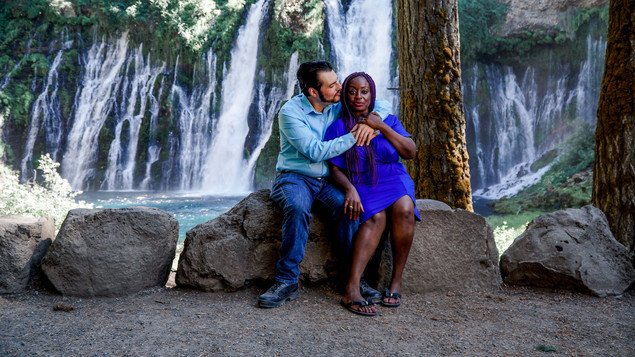 Sharon & Frank Sitting By The Falls-13.j