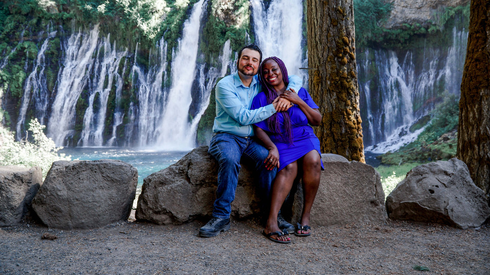 Sharon & Frank Sitting By The Falls-15.j