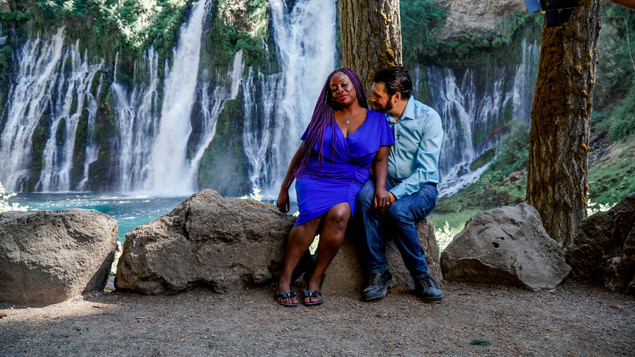 Sharon & Frank Sitting By The Falls-04.j