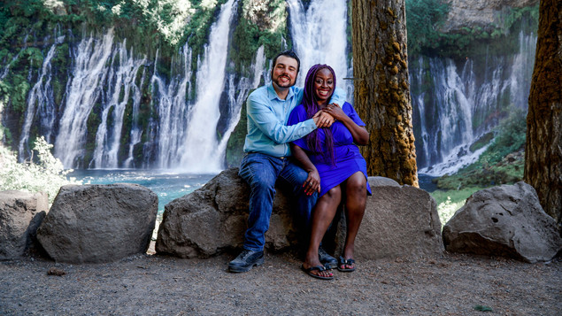 Sharon & Frank Sitting By The Falls-14.j