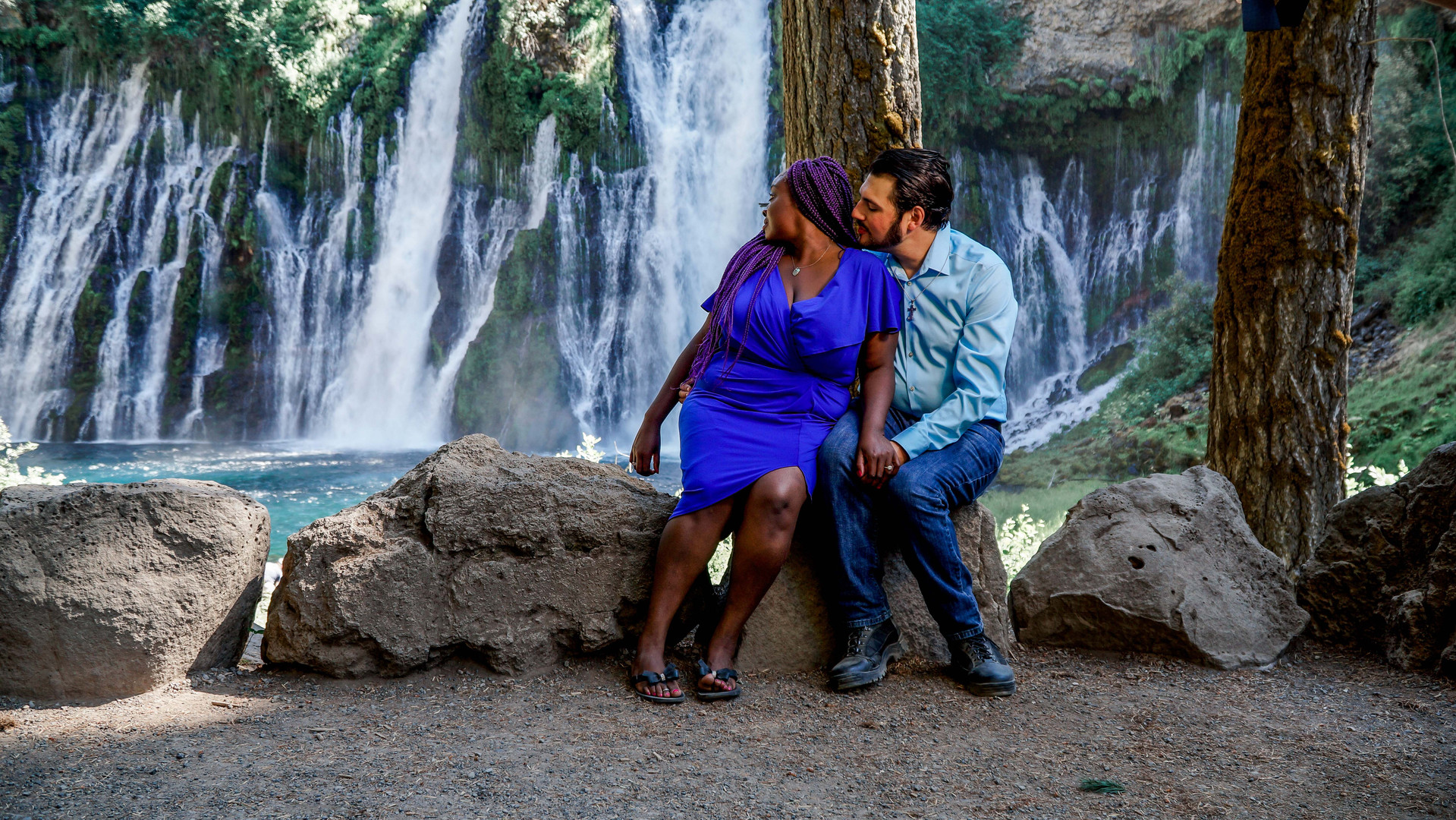 Sharon & Frank Sitting By The Falls-03.j