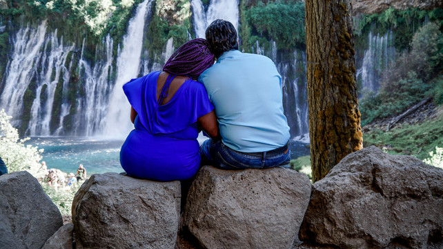 Sharon & Frank Sitting By The Falls-24.j