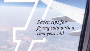 7 Tips | Flying Solo with a Two Year Old