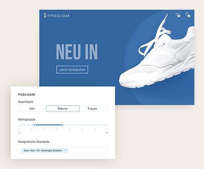 Facebook Anzeigen für einen Online Fitness Shop auf Wix