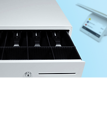 Wix Point of Sale steel cash drawer for online and in-store sales.
