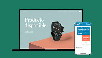 Imagen de un reloj en una tienda online, como portada de una entrada del blog de Wix sobre consejos para empresarios durante Covid-19
