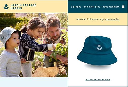 Chapeau créé avec Print on demand vendu par jardin communautaire
