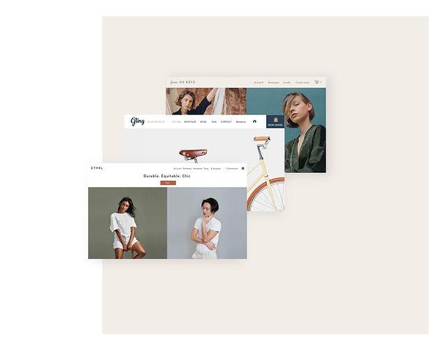 Boutique en ligne professionnelle créée avec un template Wix