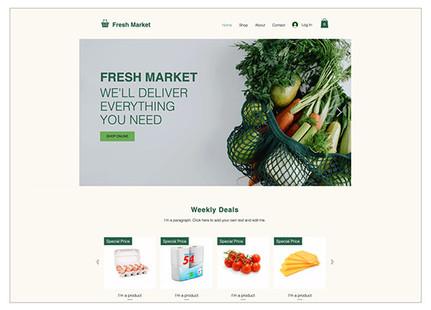 Template negozio di alimentari online