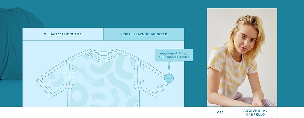 Disegnare il modello di una t-shirt in print on demand