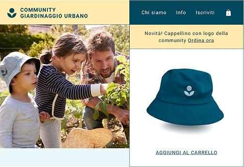Cappellino in print on demand venduto da una community di giardinaggio