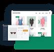 Wix online store selling/dropshipping women's swimwear.