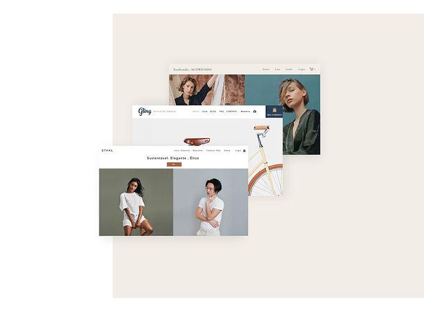 Loja online profissional criada com os templates do Wix.