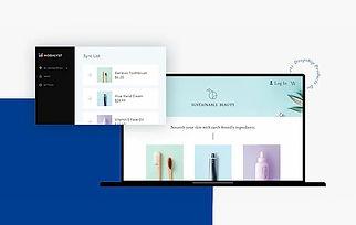 Negócio de dropshipping de produtos de beleza com uma loja online Wix