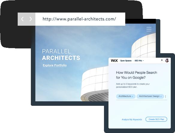 Wix SEO voorbeelden over hoe je je site kan positioneren met Wix SEO Wiz