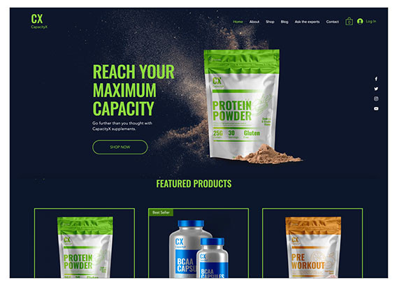 Sports Nutrition Store Template