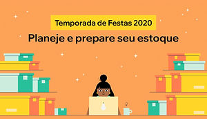 Imagem de uma mulher utilizando o computador e caixas de materiais em fundo laranja para post do blog Wix.