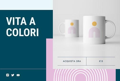 Negozio online che vende tazze in print on demand create da artisti e designer