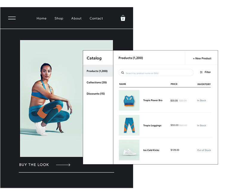 Retail inventory and catalog management on Wix online store and Wix Point of Sale.