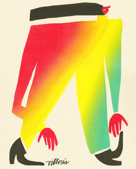 Illustration of colorful, abstracted, empowering female form by artist Amber Vittoria.