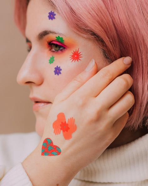 Tattoo art for Tattly by artist Amber Vittoria.
