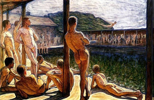 Men at the Pool