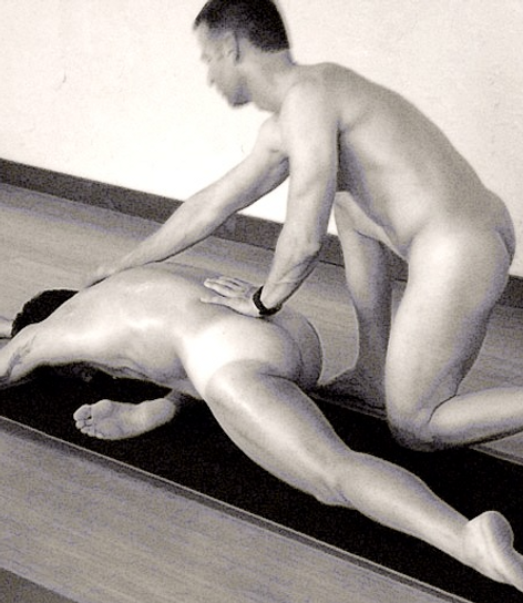 Men's partner yoga