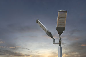 Energy saving of Solar LED light pole on