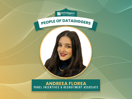 People of DataDiggers - Andreea Florea (Panel Incentives & Recruitment Associate)