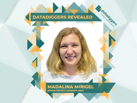Getting to know DataDiggers - Madalina Mirigel (Senior Project Manager EMEA)