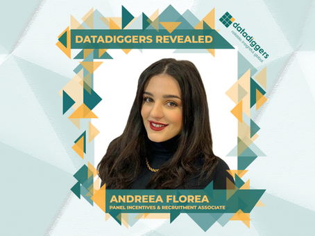 Getting to know DataDiggers - Andreea Florea (Panel Incentives & Recruitment Associate)