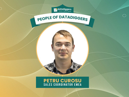 People of DataDiggers - Petru (Sales Coordinator EMEA)