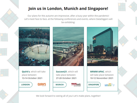 Join us in London, Munich and Singapore!