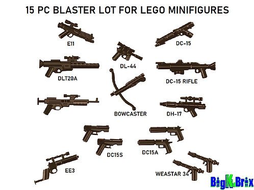 BLASTER PACK (15 pcs) for Lego Star Wars Minifigures Minifigs